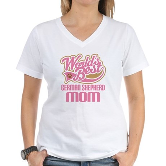German Shepherd Mom Women's V-Neck T-Shirt