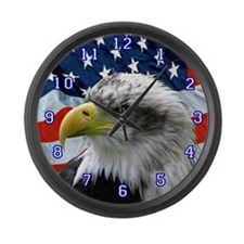 Unique American eagle Large Wall Clock