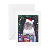 Funny Rabbit holiday Greeting Card