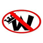 Not King W Oval Sticker