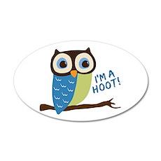 Owl Art I'm A Hoot 20x12 Oval Wall Decal