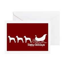 "Brit Spaniel ""Sleigh"" Greeting Card (Pk of 10)"