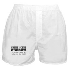 CSI Chalk Lines Boxer Shorts