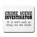 CSI Chalk Lines Mousepad