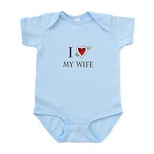 i love my wife heart Infant Bodysuit