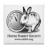 Cute Rabbit Tile Coaster