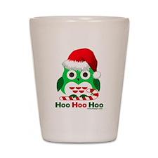 Christmas Owl Hoo Hoo Hoo Shot Glass