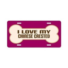 Chinese Crested Aluminum License Plate