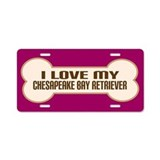 Chesapeake Bay Retriever Aluminum License Plate