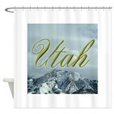MountainPhotosSquareUtah.png Shower Curtain