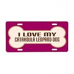 Catahoula Leopard Dog Aluminum License Plate