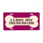 English Bulldog Aluminum License Plate