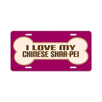 Chinese Shar-Pei Aluminum License Plate