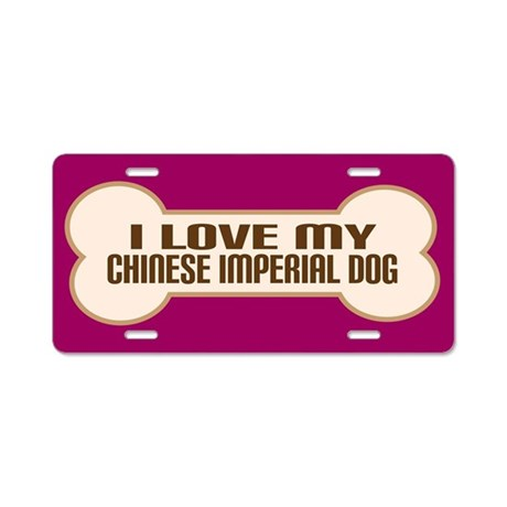 Chinese Imperial Dog Aluminum License Plate