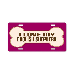 English Shepherd Aluminum License Plate