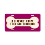English Foxhound Aluminum License Plate