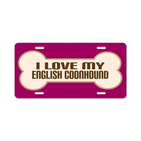 English Coonhound Aluminum License Plate