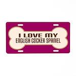 English Cocker Spaniel Aluminum License Plate