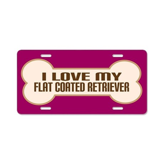 Flat Coated Retriever Aluminum License Plate