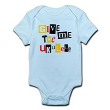 Ukulele Ransom Note Infant Bodysuit