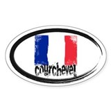 Courchevel Grunge Flag Decal