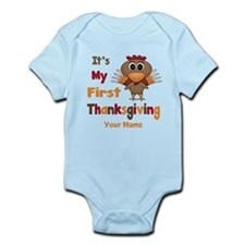 First Thanksgiving Personalized Infant Bodysuit
