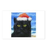 Santa Holiday Cat Postcards (Package of 8)