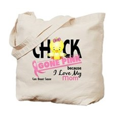 Chick Gone Pink For Breast Cancer Tote Bag