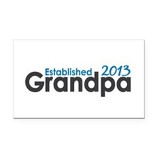 Grandpa Est 2013 Rectangle Car Magnet