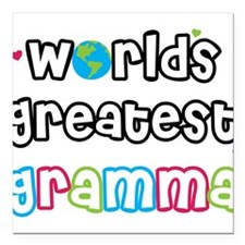"WorldsGreatestGramma.png Square Car Magnet 3"" x 3"""