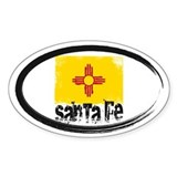 Santa Fe Grunge Flag Decal
