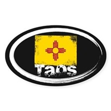 Taos Grunge Flag Decal