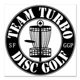 "Team Turbo Square Car Magnet 3"" x 3"""