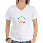Christmas Caroler Womens Burnout Tee