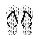 Baseball Catch Silhouette or Icon Flip Flops