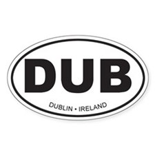 Dublin, Ireland Oval Decal