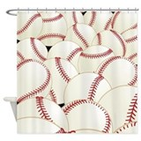 Baseball Shower Curtains