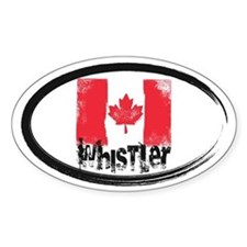 Whistler Grunge Flag Decal