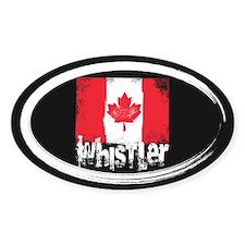 Whistler Grunge Flag Decal