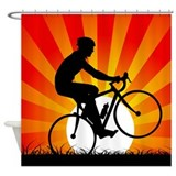 Sunset Cyclist Shower Curtain