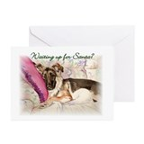 "GSD ""Waiting Up"" Christmas Cards (Pk of 10)"