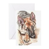 German Shepherd Christmas Cards (Package