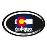Snowmass Grunge Flag Stickers