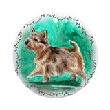 Norwich Terrier Ornament (Round)