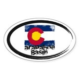 Arapahoe Basin Grunge Flag Decal