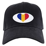 Moldova flag heart Baseball Hat