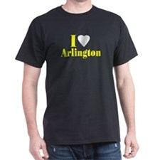 I Love Arlington Black T-Shirt