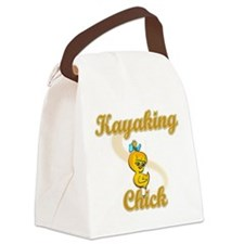 Kayaking Chick #2 Canvas Lunch Bag