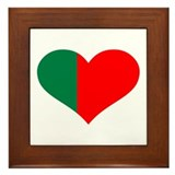 Portugal flag heart Framed Tile