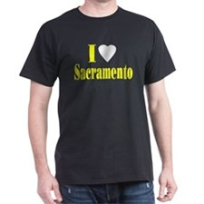 I Love Sacramento Black T-Shirt